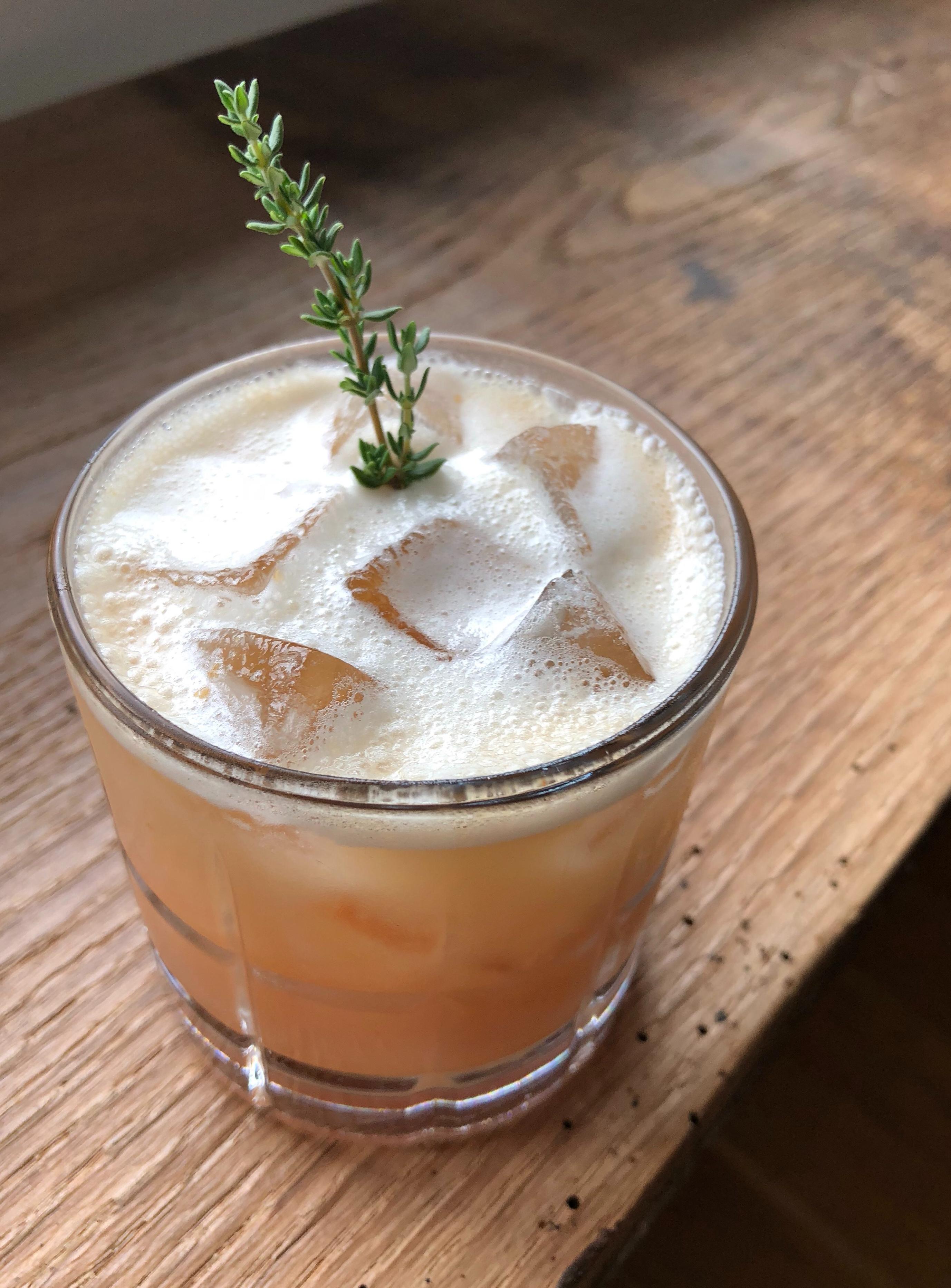 Peach Whiskey Sour